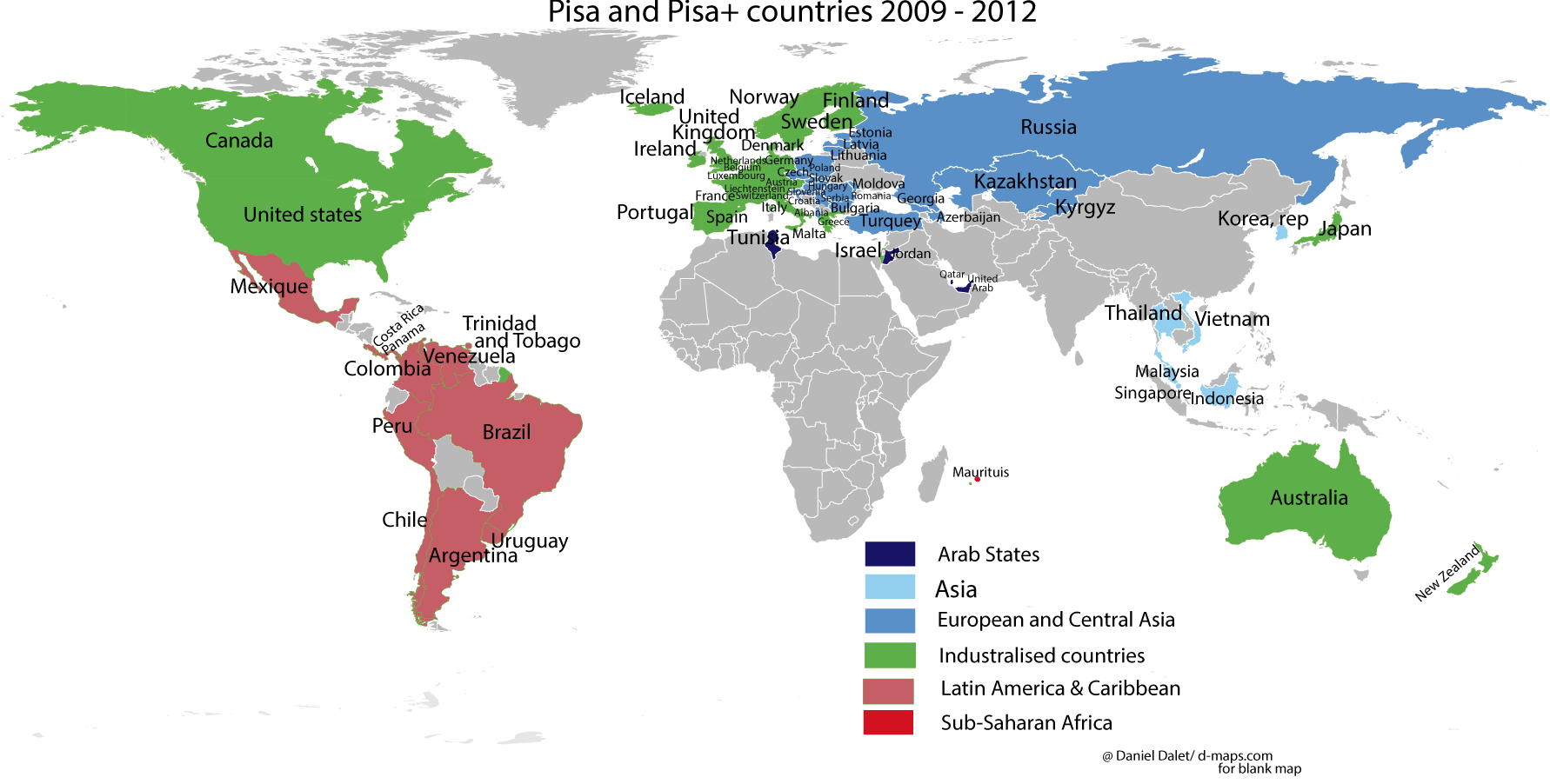 pisa countries